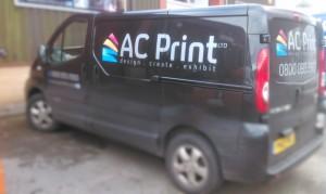 AC Print Ltd delivery van