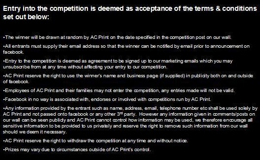 Competition Ts&Cs