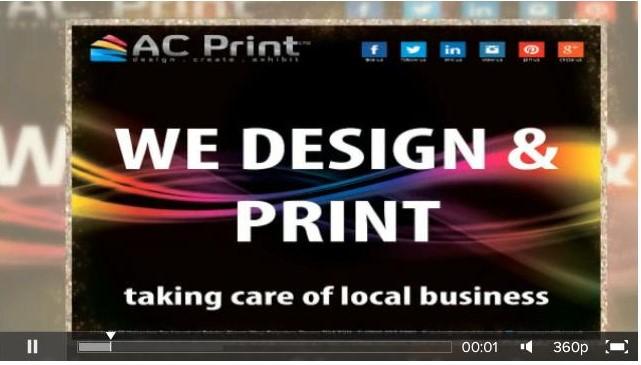 AC Print Ltd Commercial Printers, Printed Product Range Video