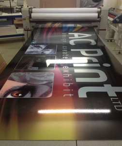 Banner printing from print ready artwork