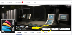 News: AC Print Ltd, Paignton, facebook page call to action button
