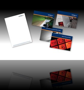 Letterheads and double sided business cards commercially printed using digital print by AC Print Ltd South Devon