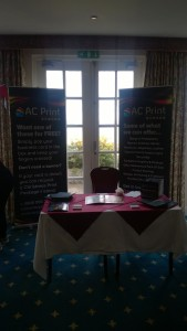 Our stand set up and ready to go at #BrixBizShow at Berry Head Hotel