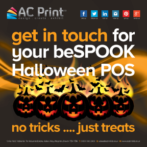 AC Print Ltd Halloween Point of Sale